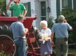 Thirsty farmers need an iced-tea break, delivered by Grammie.
