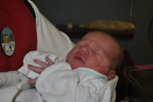 On Dec. 31, New Year's Eve, we welcomed our newest family member, Silas William Mehaffey!